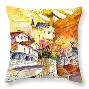 Biarritz 05 Throw Pillow