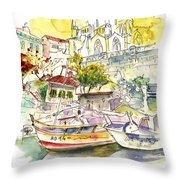 Biarritz 11 Throw Pillow