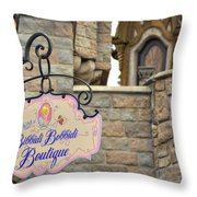 Bibbidi Bobbidi Boutique Throw Pillow