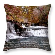 Bible Verse And Inspirational Greeting Card Autumn Fine Art Photography Prints And Posters. Throw Pillow