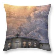 Biblical Sunset Throw Pillow