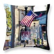 Biblion Used Books Reflections 2 - Lewes Delaware Throw Pillow
