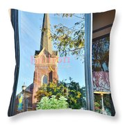 Biblion Used Books Reflections 3 - Lewes Delaware Throw Pillow