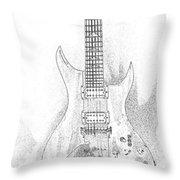 Bich Electric Guitar Sketch Throw Pillow