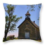 Bichet School In Marion County In Kansas Throw Pillow