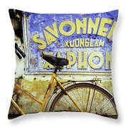 Bicycle 01 Throw Pillow