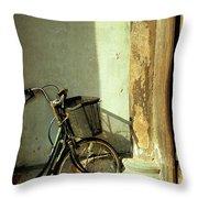 Bicycle 02 Throw Pillow