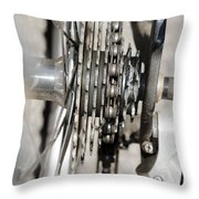 Bicycle Cassette Throw Pillow