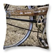 Bicycle Gears Throw Pillow