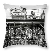 Bicycle Heaven Throw Pillow