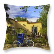 Bicycle In Santa Fe Throw Pillow