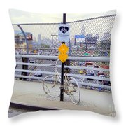 Bicycle Memorial Throw Pillow