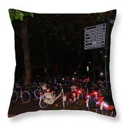 Bicycle Parking In Haarlem Throw Pillow