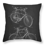 Bicycle Patent Throw Pillow