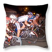 Bicycle Race By Jan Marvin Throw Pillow