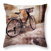 Bicycle Revisited Throw Pillow