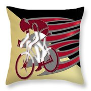 Bicycle Rider 01 Throw Pillow