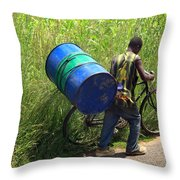 Bicycle Strain Throw Pillow