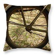 Bicycle Tire Throw Pillow