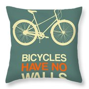 Bicycles Have No Walls Poster 3 Throw Pillow