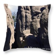 Bicyclist And Granite Spires Throw Pillow