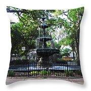 Bienville Fountain Mobile Alabama Throw Pillow