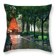 Bienville Sq. Christmas Tree Throw Pillow