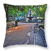 Bienville Square And The Bench 2 Throw Pillow