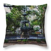Bienville Square Fountain Closeup Throw Pillow
