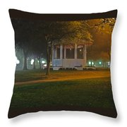 Bienville Square Grandstand In A Foggy Mist Throw Pillow