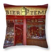 Bier Tempel Throw Pillow