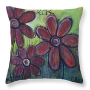 Big And Bright Daisies Throw Pillow