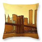 New York City - Big Apple Sunrise Throw Pillow