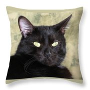Big Bad Voodoo Kitty Throw Pillow