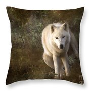 Big Bad Wolf Sprinkling The Grass Throw Pillow