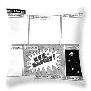 Big Bang Comix Throw Pillow