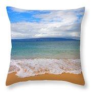 Big Beach Maui Throw Pillow