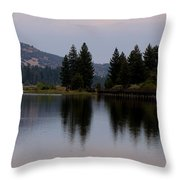 Big Bear Lake Throw Pillow