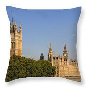 Big Ben And The Houses Of Parliament In London England Throw Pillow
