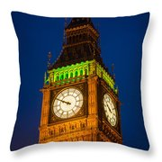 Big Ben At Night Throw Pillow