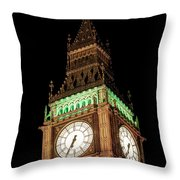 Big Ben Close Up Throw Pillow