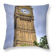Big Ben - Elizabeth Tower Throw Pillow