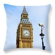 Big Ben Security Throw Pillow