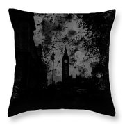 Big Ben Street Black And White Throw Pillow