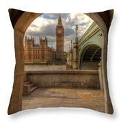 Big Ben Through The Arch Throw Pillow