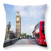 Big Ben Throw Pillow by Trevor Wintle