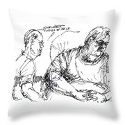 Big Billy And His Friend Throw Pillow