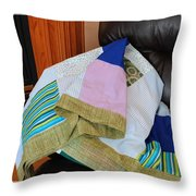 Big Blocks Patchwork Quilt Throw Pillow