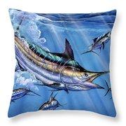 Big Blue And Tuna Throw Pillow