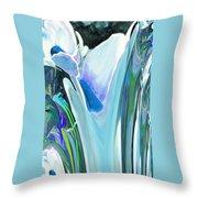 Big Blue Flower Throw Pillow